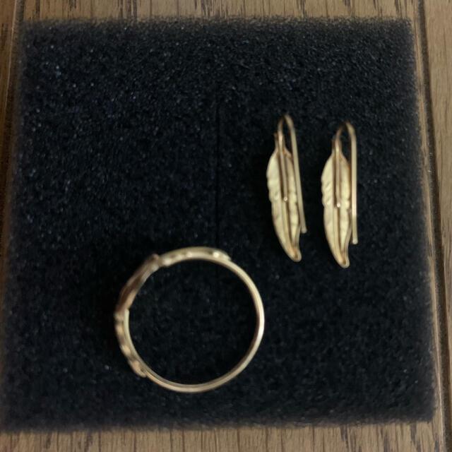 DEUXIEME CLASSE(ドゥーズィエムクラス)のドゥーズィエムクラス HANKA-INハネリング、ピヤスセット! レディースのアクセサリー(リング(指輪))の商品写真