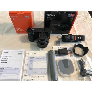 【美品】sony α6400 +単焦点レンズ E 35mm F1.8 OSS