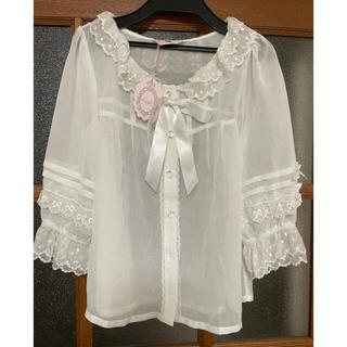 Angelic Pretty - 未使用 マカロンシフォンブラウス ロリィタ 半袖
