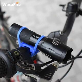 自転車ハンドルバーシリコンストラップバンド(ブルー)1本