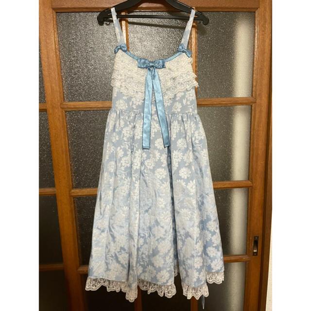 Angelic Pretty(アンジェリックプリティー)の試着のみ Silky Fleurジャンパースカート レディースのワンピース(ひざ丈ワンピース)の商品写真