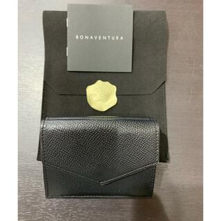 美品 定価3.6万 ボナンベンチュラ ノブレッサレザー スモールウォレット 黒