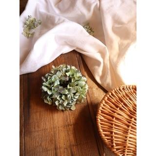 秋支度。ころっと可愛いアキイロ。秋色紫陽花リース。ドライフラワーリース(リース)