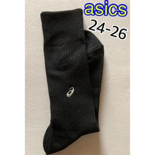 アシックス(asics)の【24-26cm】asics 黒色メンズソックス【新品・未使用品】【台紙なし】(ソックス)