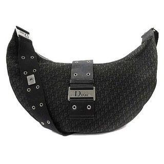 Christian Dior - クリスチャンディオール ストリートシック ハーフムーン ショルダーバッグ 黒