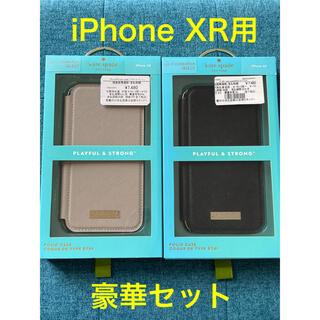 ケイトスペードニューヨーク(kate spade new york)の【新品】iPhone XR用 ブックタイプケース kate spade 2点(iPhoneケース)