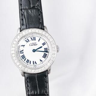 Cartier - 【保証書付】カルティエ ロンド SM シルバー ダイヤ レディース 腕時計