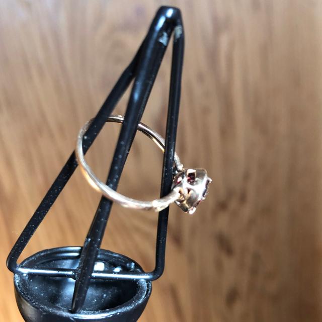 H.P.FRANCE(アッシュペーフランス)のtatsuo nagahata K10 ガーネット ダイヤ リング レディースのアクセサリー(リング(指輪))の商品写真