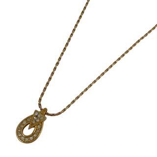 クリスチャンディオール(Christian Dior)のクリスチャンディオール ラインストーン デザイン ネックレス GP 【中古】(ネックレス)