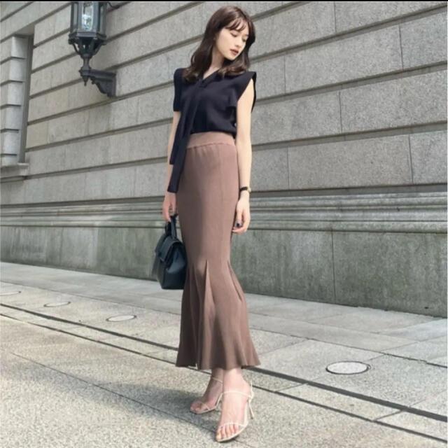 FRAY I.D(フレイアイディー)の新品タグ付き L'Or ロル Mermaid Knit Skirt  レディースのスカート(ロングスカート)の商品写真