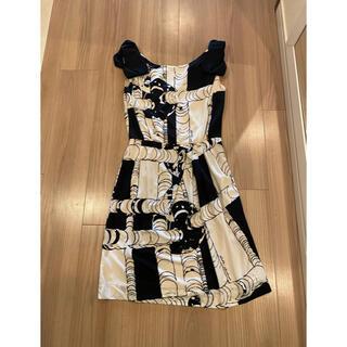 ダブルスタンダードクロージング(DOUBLE STANDARD CLOTHING)の美品 ダブルスタンダード ワンピース モノトーン(ひざ丈ワンピース)