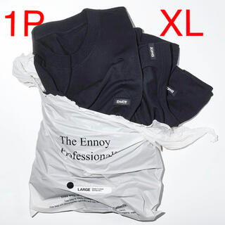 1LDK SELECT - ENNOY PACK(1P) T-SHIRTS (BLACK) size XL