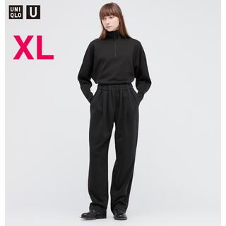 UNIQLO - UNIQLO U スウェットギャザーパンツ ブラック XL