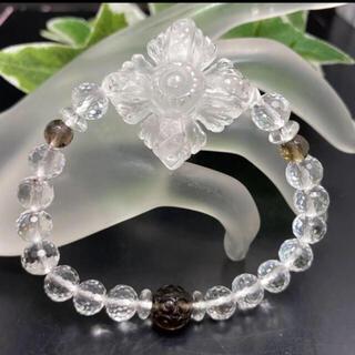 水晶カツマ&スモーキー回紋珠❣️結界を張って、厄災から守護✨金運✨お守り❣️