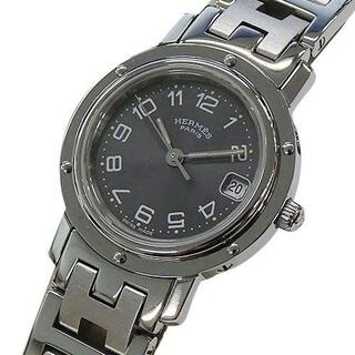 Hermes - エルメス 時計 CL4.210 クリッパー クオーツ デイト レディース 磨き済