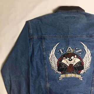 ヴィンテージ デニムジャケット ワーナーブラザーズ キャラ刺繍 XL