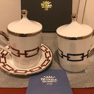 Richard Ginori - リチャードジノリ☆カテーネ☆プレート16☆ペアマグカップ蓋付き