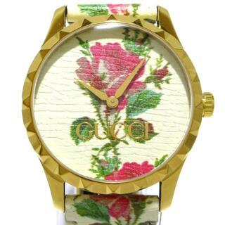 Gucci - グッチ 腕時計美品  Gタイムレス 花柄