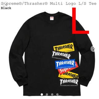 Supreme - Supreme®/Thrasher® Multi Logo L/S Tee 新品