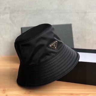 【サイズ:M】新品 プラダ ナイロン ハット 帽子 黒