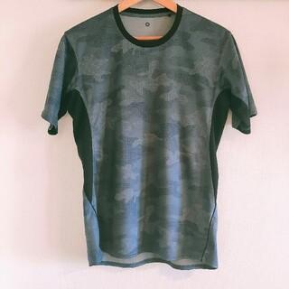 ジーユー GU メンズ Tシャツ グレー迷彩 Mサイズ