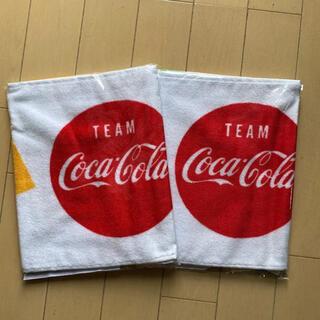 コカコーラ(コカ・コーラ)のコカコーラ フェイスタオル(タオル/バス用品)