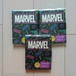 マーベル(MARVEL)のマーベル 黒 付箋 3つセット マグネット付き ブック型 ふせん MARVEL(ノート/メモ帳/ふせん)