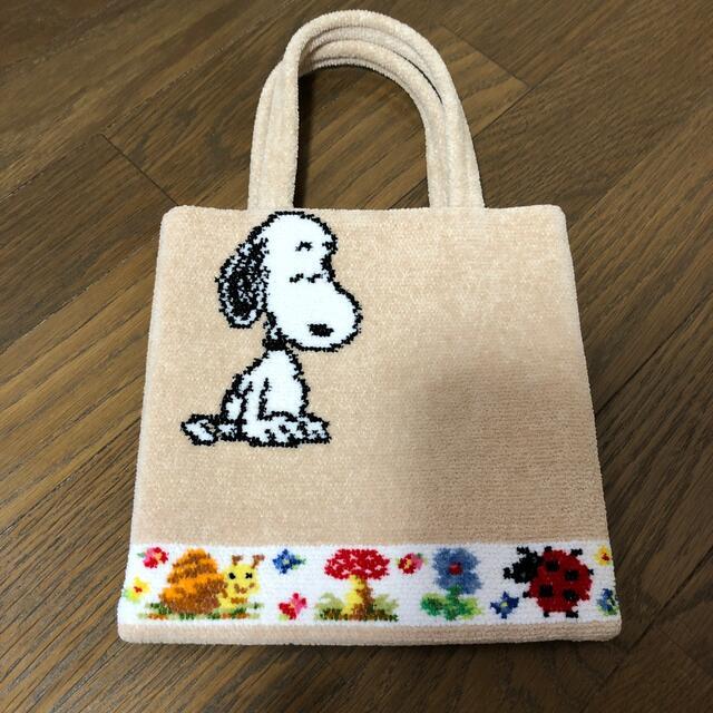 FEILER(フェイラー)のお値下げします‼️フェイラー × スヌーピー 西宮阪急 限定 パウリ ベージュ レディースのバッグ(トートバッグ)の商品写真