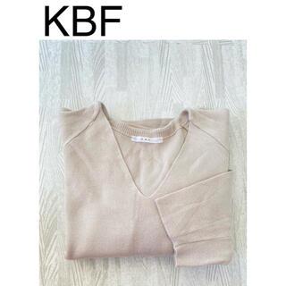 ケービーエフ(KBF)のKBF/ニット/ドルマンスリーブ/ベージュ/サイズ ONE(ニット/セーター)