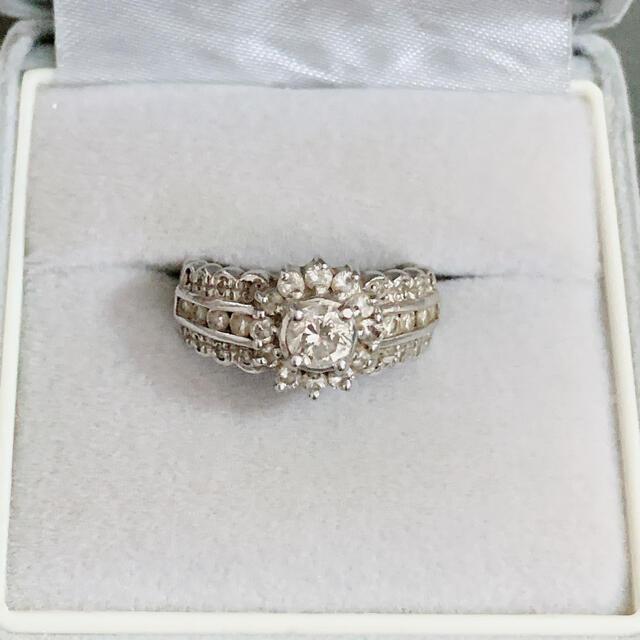 プラチナ ダイヤモンドリング 1ct  レディースのアクセサリー(リング(指輪))の商品写真