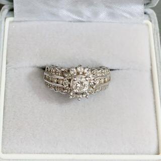 プラチナ ダイヤモンドリング 1ct