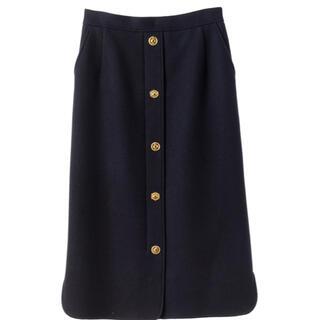 ミュベールワーク(MUVEIL WORK)のMUVEIL 新品未使用2021AW新作 メタルボタンスカート(ロングスカート)