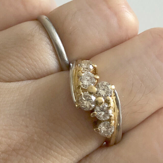 JEWELRY TSUTSUMI - ジュエリーマキ プラチナ K18 ダイヤモンドリング