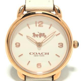 COACH - コーチ 腕時計 - CA.114.7.34.1416 白