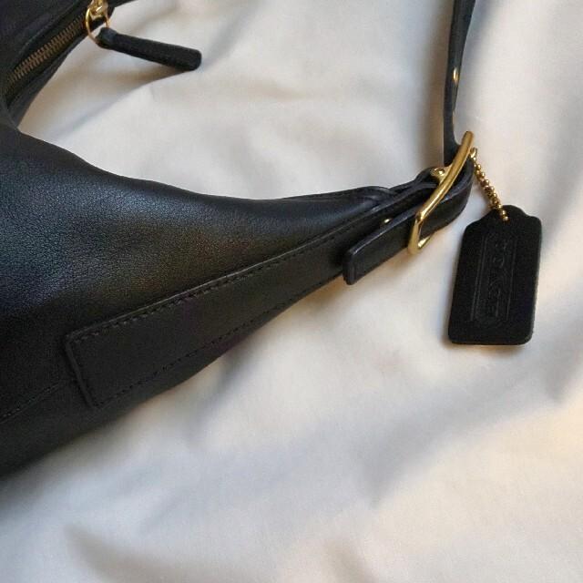 COACH(コーチ)の希少 COACH オールドコーチショルダーバッグ ハンドバッグ  黒 新品同様 レディースのバッグ(ショルダーバッグ)の商品写真