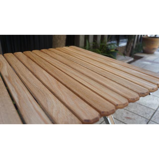 【連絡用】ウォールナット ロールトップサイドテーブル 蜜蝋仕上げ スポーツ/アウトドアのアウトドア(テーブル/チェア)の商品写真