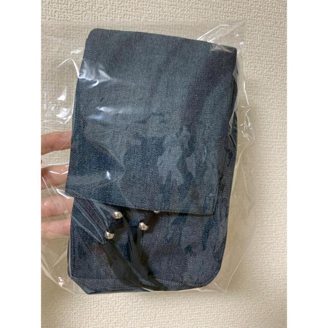 1LDK SELECT(ワンエルディーケーセレクト)のmasu MARBLE DENIM HIPPIE BAG メンズのバッグ(ショルダーバッグ)の商品写真