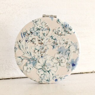 アフタヌーンティー(AfternoonTea)のアフタヌーンティー フラワーミニミラー丸型 パステルピンク/ブルー 手鏡 かがみ(ミラー)