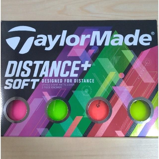 TaylorMade(テーラーメイド)の【新品】テーラーメイド ディスタンス+ ソフト マットカラー 1ダース 12球 スポーツ/アウトドアのゴルフ(その他)の商品写真
