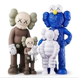 MEDICOM TOY - KAWS FAMILY BROWN BLUE WHITE フィギュア