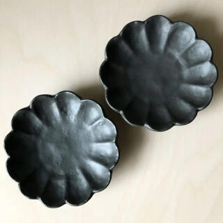 美濃焼 輪花 リンカ 菊型 小皿 豆皿 2枚