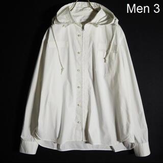 サカイ(sacai)のsacai サカイ 20SS フード付き シャツブルゾン ホワイト 3 (シャツ)