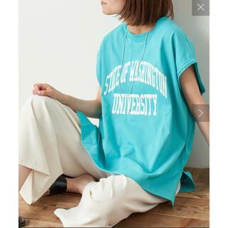 チャオパニックティピー(CIAOPANIC TYPY)の新品 CIAOPANIC TYPY テキサスコットンカレッジノースリT(Tシャツ(半袖/袖なし))