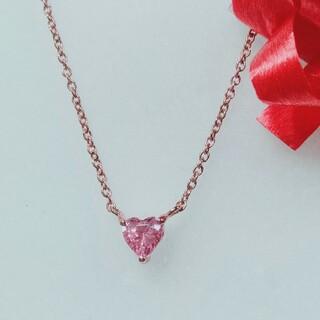 シルバー925ピンク石ネックレス(ネックレス)
