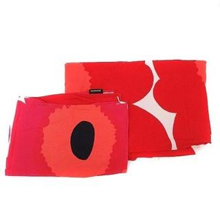 マリメッコ(marimekko)のマリメッコ 掛け布団カバー 枕カバー 2点セット シングル ウニッコ柄 赤(シーツ/カバー)
