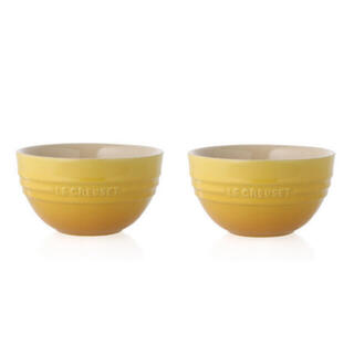 LE CREUSET - ルクルーゼ ライスボール 2個セット ライスボウル LE CREUSET 黄色