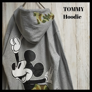 トミー(TOMMY)の【人気アイテム】TOMMY パーカー プルオーバー ミッキー コラボ グレー(パーカー)