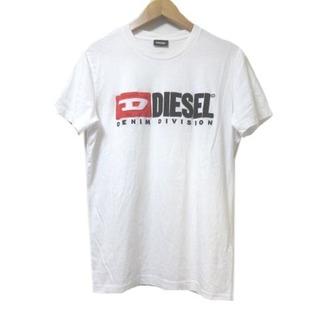 ディーゼル(DIESEL)のディーゼル DIESEL Tシャツ 半袖 カットソー ロゴ アップリケ 白 S(Tシャツ/カットソー(半袖/袖なし))