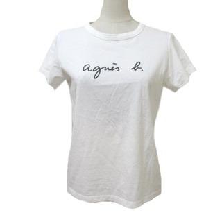 agnes b. - アニエスベー agnes b. 半袖 Tシャツ カットソー ロゴプリント 白 2