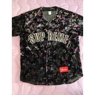 Supreme - 【美品!】supreme ベースボールシャツ ベロア TAKUYA∞ 窪塚洋介